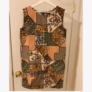 MARNI SLEVELESS ABSTRACT PATTERNED DRESS